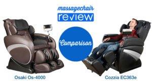 Osaki OS-4000 and Cozzia EC363e Comparison