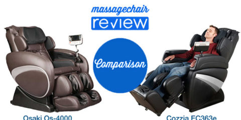 Osaki Os-4000 vs Cozzia EC363e Massage Chair Comparison
