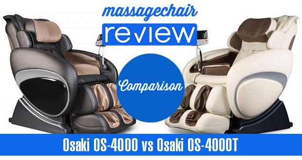 Osaki OS-4000 vs Osaki OS-4000T Massage Chair Comparison