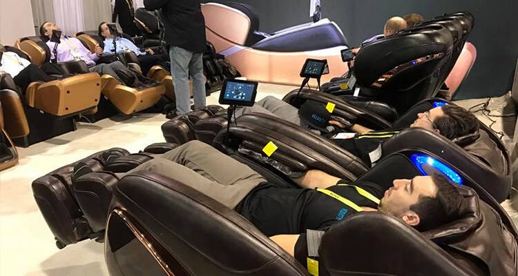 Cozzia and Ogawa Massage Chairs CES
