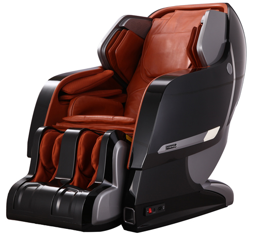 Infinity Iyashi Massage Chair In Black With Caramel